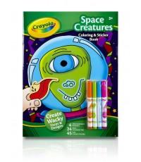 Crayola ชุดสีเมจิกพร้อมสมุดและสติ๊กเกอร์ ลายมนุษย์อวกาศ รุ่น 04-0176 (1 แพ็คมี 2 ชุด)