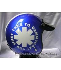 AVEX หมวกกันน็อคคลาสสิค รุ่น Dammtrax สีน้ำเงิน/ขาว