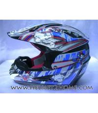 หมวกกันน็อควิบากเด็ก WLT helmet รุ่น 125 ลายการ์ตูน สีดำ