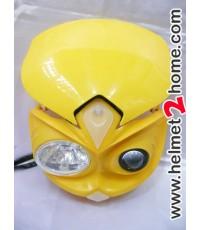 หน้ากาก KSR KLX110 รุ่น CMD RR สีเหลือง