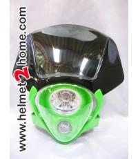 หน้ากาก KSR KLX110 รุ่น Alien สีเขียว