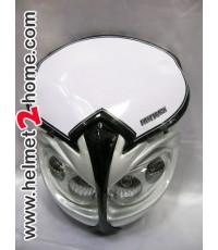 หน้ากาก KSR KLX110 รุ่น Monster สีเงิน