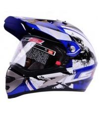 หมวกโมตาด LS2 MX433 ลาย QUAKE สีน้ำเงิน