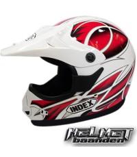 หมวกวิบาก INDEX RX-RR ลาย 14 ขาว/แดง