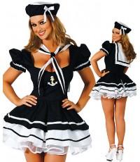 พร้อมส่ง  ชุดแฟนซี ชุดทหารเรือหญิง ชุดกะลาสีเรือสาว พร้อม หมวก Sailor Sweetie Party Costume