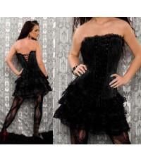 pre order ชุดเซ็กซี่ Sexy Corset with Layered Stiff Tull Petticoat