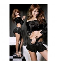 pre order เดรส เซ็กซี่ Top And Skirt Set with Sequin Trim C2803