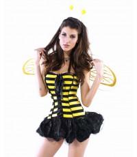 pre order ชุดแฟนซี ชุดแฟนซีสัตว์ ชุดแฟนซีผึ้ง ชุดผึ้ง พร้อมปีก และที่คาดผม Honey Bee Costume