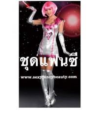 พร้อมส่ง   ชุดแฟนซี ชุดมนุษย์อวกาศ ต่างดาว พร้อมถุงมือ ถุงน่อง ไม่รวมวิกผม space costume