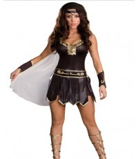 pre order  ชุดแฟนซี ชุดซุปเปอร์ฮีโร่ superhero พร้อม ปลอกข้อมือ ที่คาดศีรษะ Gladiator Queen Costume