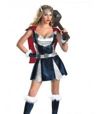 pre order ชุดซุปเปอร์ฮีโร่ superhero พร้อม ถุงมือ ไม่รวมค้อน/ที่คาดศีรษะ/รองเท้า Thor Costume