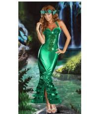 pre order ชุดแฟนซีนางเงือก ชุดนางเงือก ชุดเมอเมด พร้อมที่คาดศีรษะ  Sexy Sea Siren Costume