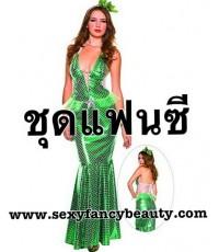 pre order ชุดแฟนซีนางเงือก ชุดนางเงือก ชุดเมอเมด พร้อมที่คาดศีรษะ Adult Mermaid Costume