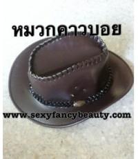 พร้อมส่ง  หมวกแฟนซี หมวกคาวบอย หมวกคาวเกิร์์ล สีน้ำตาล cowboy cowgirl hat