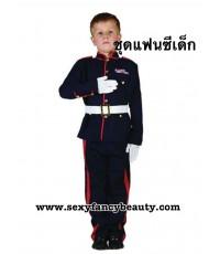 พร้อมส่ง ชุดแฟนซีเด็ก ชุดทหารอังกฤษ (เสื้อ,กางเกง,เข็มขัด) ขนาดอายุ 11-12ขวบ