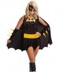 พร้อมส่ง ชุดแฟนซี  แบทเกิร์ล สีดำ พร้อมหน้ากาก และ ปลอกแขน Batgirl Costume