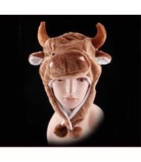 (ข อ ง ห ม ด ค่ะ) หมวกแฟนซี หมวกหัวสัตว์ หมวกลูกวัว หมวกวัว หมวกสัตว์ หมวกการ์ตูนรูปสัตว์