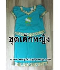 pre order ชุดอาเซียน ASEAN ชุดฟิลิบปินส์ ชุดฟิลิปปินส์เด็ก สีฟ้า size 12 ประมาณ 11-12ปี