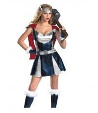(ข อ ง ห ม ด ค่ะ) ชุดแฟนซี ชุดซุปเปอร์ฮีโร่ superhero พร้อม ถุงมือ ที่คาดศีรษะ Thor Girl Costume