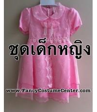 พร้อมส่ง ชุดอาเซียน ASEAN ชุดฟิลิปปินส์เด็ก สีชมพู กระโปรงพอง(บุผ้ามุ้งด้านใน) size26(ขนาดเด็ก5-6ขวบ