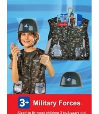 พร้อมส่ง (S A L E !!!) ชุดทหารเด็ก ขนาดเด็กอายุ 3-8 ขวบ พร้อม หมวก อุปกรณ์ของเล่นพลาสติกตามรูป