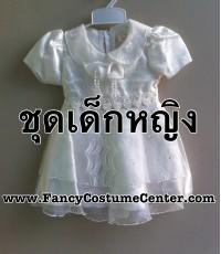 พร้อมส่ง ชุดอาเซียน ASEAN ชุดฟิลิปปินส์เด็ก กระโปรงพอง(บุผ้ามุ้งด้านใน) สีขาวsize24(ขนาดเด็ก4-5ขวบ