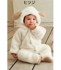 (ข อ ง ห ม ด ค่ะ) ชุดนอนสัตว์ ชุดกันหนาว ชุดหมีเด็ก ชุดจั๊มสูท สีขาว ขนาดเด็กสูง 80 cm
