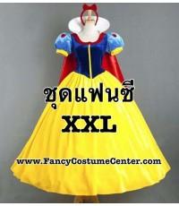 พร้อมส่ง ชุดแฟนซีคนอ้วน XXL ชุดสโนว์ไวท์ snow white กำมะหยี่ หรูหราอย่างดี