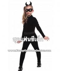 (ข อ ง ห ม ด ค่ะ) ชุด CATWOMAN พร้อมหน้ากาก/ที่คาดผม ขนาดเด็กสูง130-140 cm