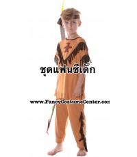 (ข อ ง ห ม ด ค่ะ)  ชุดอินเดียแดง เนื้อผ้ายืด free size ขนาดเด็กสูง 110-130 cm