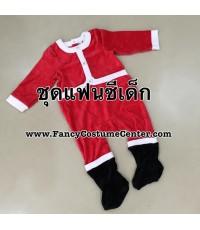 พร้อมส่ง ชุดซานตาครอส ซานตาคลอส เนื้อผ้านุ่ม อายุ 18 เดือน
