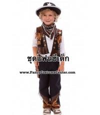 (ข อ ง ห ม ด ค่ะ) ชุดคาวบอยเด็ก ขนาดอายุ 8-10 ขวบ (ชุดตามรูปทุกชิ้นยกเว้นกางเกงตัวใน/ถุงเท้า/รองเท้า