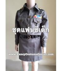 พร้อมส่ง ชุดอาชีพ ชุดตำรวจ เด็กผู้หญิง ขนาดเด็กอายุ 8-10 ขวบ
