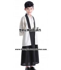(ข อ ง ห ม ด ค่ะ) ชุดญี่ปุ่นเด็กผู้ชาย สีครีม size120 ขนาดเด็กสูง 115-125 cm