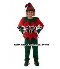 (ข อ ง ห ม ด ค่ะ) ชุดเอลฟ์ ELF (กำมะหยี่อย่างดี) ขนาดอายุ 8-10 ขวบ (ชุดตามรูปทุกชิ้น ยกเว้นหู)