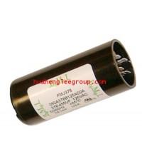 สตาร์ท คาปาซิเตอร์ - แคปสตาร์ท (ตัวพลาสติกกลม สีดำ) หัวเสียบ 36-43MFD 330V