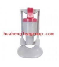 ก๊อกน้ำร้อนแก้วชน รุ่นH4 พลาสติก สีแดง มีsafetyล็อค ใช้สำหรับตู้น้ำร้อน-เย็น