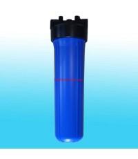 เครื่องกรองน้ำ Housing ท่อเดี่ยว พลาสติกทึบ 20นิ้ว ท่อน้ำเข้า-ออก 3/4นิ้ว (6หุน)