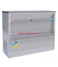 ตู้ทำน้ำเย็น สเตนเลส แบบต่อท่อประปา 7 ก๊อก หน้าเว้า (MC-7P) MAXCOOL