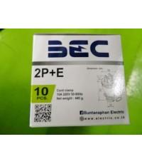 BEC หัวปลั๊กตัวผู้สามขา M301 10A 250V ราคา 35 บาท