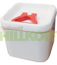 โถเก็บเมล็ดกาแฟ ทรงเหลี่ยม ขนาดเล็ก (Sealed Pot - Cuboid - Small)