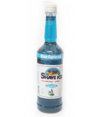 Shave Ice Blue Curacao น้ำหวานเข้มข้น เชฟไอซ์ บลูคูราโซ่ (ขวด)