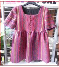 เสื้อผ้าปักชาวเขา ลายผ้าสวย สีคลาสสิค H 004