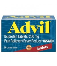 Advil Ibuprofen Tablets 200mg ยาแก้ปวด แก้ไข้ ปวดหัว ปวดฟัน ปวดแผล ได้ผลชะงัดคะ  ขนาด 50เม็ด.