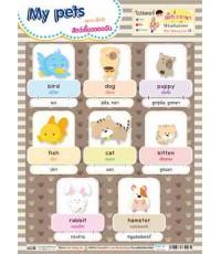 โปสเตอร์เด็ก 3 ภาษา My pets (สัตว์เลี้ยงของฉัน)