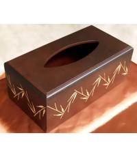 กล่องใส่กระดาษชำระไม้สัก