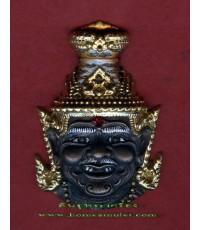เศียรพ่อปูฤาษีตาไฟ เนื้อสัมฤทธิ์ ปิดทองเพ้นสี นำฤกษ์ ฝังตะกรุด 3 กษัตริย์ หลวงปู่เณร จ.ร้อยเอ็ด