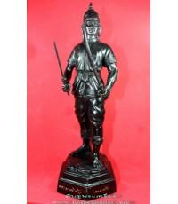 พระบูชา พระยาพิชัยดาบหัก สูง12นิ้ว เนื้อทองผสมรมดำ หลวงปู่ทองดำ วัดท่าทอง ปลุกเสก ปี2546