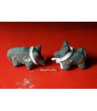 วัวธนู เนื้อผงผสมดินอาถรรพณ์ปั้นมือ ครูบาแก้ว วัดร่องดู่ พะเยา ปี2546 แรงกันคุณไสยไล่ขวิดผีกระจาย