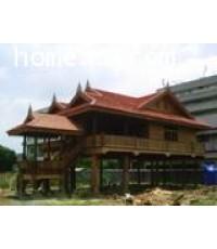 บ้านเรือนไทยพร้อมที่ดิน 1 ชั้น ซ.นวมินทร์ 85  เนื้อที่ 93 ตร.วา สภาพสวยมากพร้อมเข้าอยู่